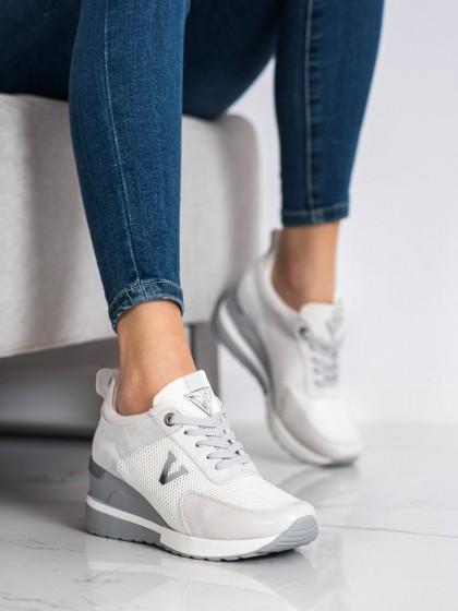70664 - Vinceza superge, nizki čevlji siva/srebrna barva
