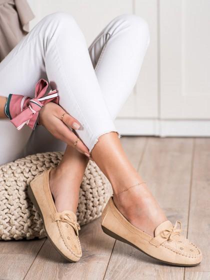 70746 - Best shoes mokasinke rjava/bez barva