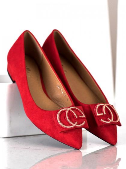 70772 - Fama balerinke, espadrile rdeca barva