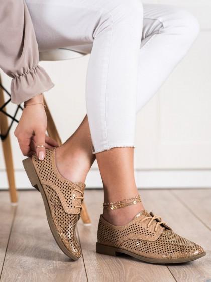 71021 - Shelovet nizki elegantni čevlji rjava/bez barva
