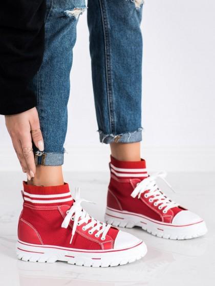 71071 - Shelovet superge, nizki čevlji rdeca barva
