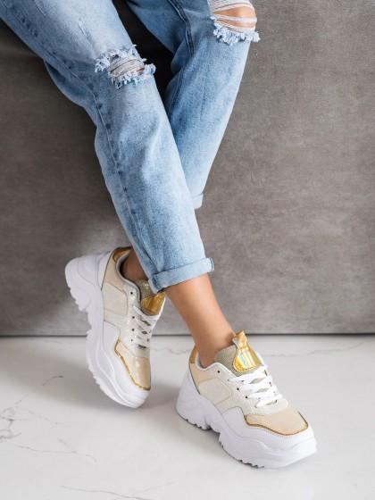 71117 - Weide superge, nizki čevlji rumena/zlata barva