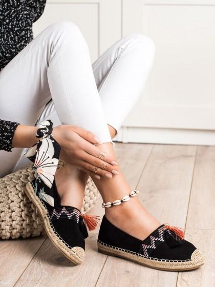 71126 - Best shoes superge, nizki čevlji crna barva