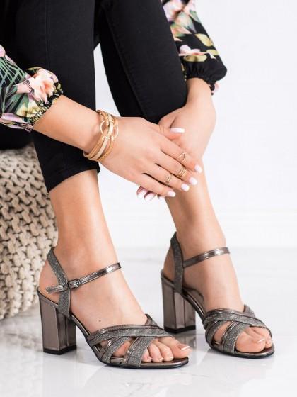 71162 - Shelovet sandali siva/srebrna barva