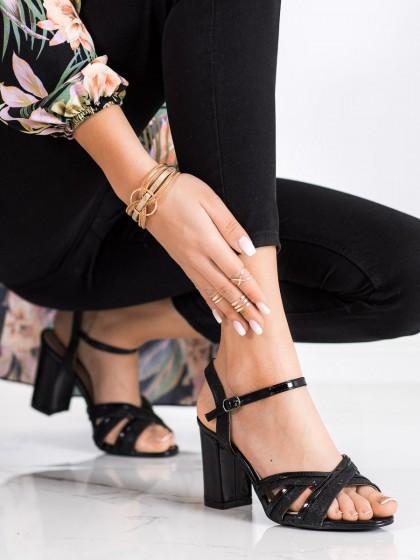 71163 - Shelovet sandali crna barva