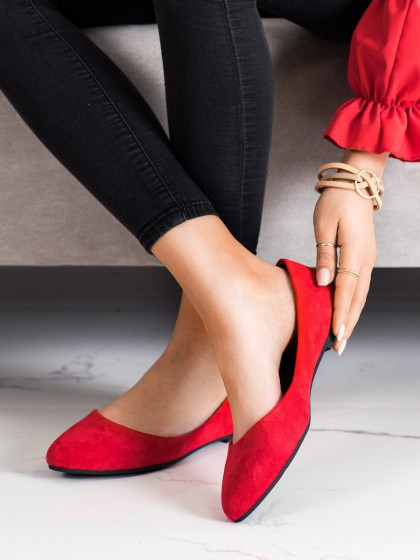 71227 - Sergio leone balerinke, espadrile rdeca barva
