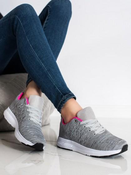 71234 - Shelovet superge, nizki čevlji siva/srebrna barva