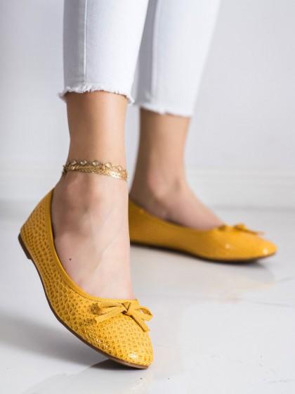 71555 - Goodin balerinke, espadrile rumena/zlata barva