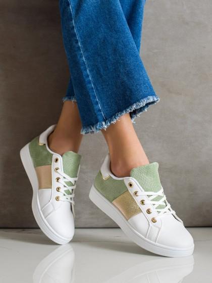 71754 - Shelovet superge, nizki čevlji zelena barva