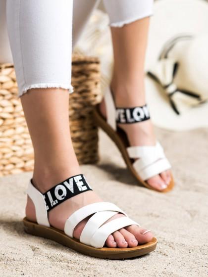 71943 - Shelovet sandali bela barva