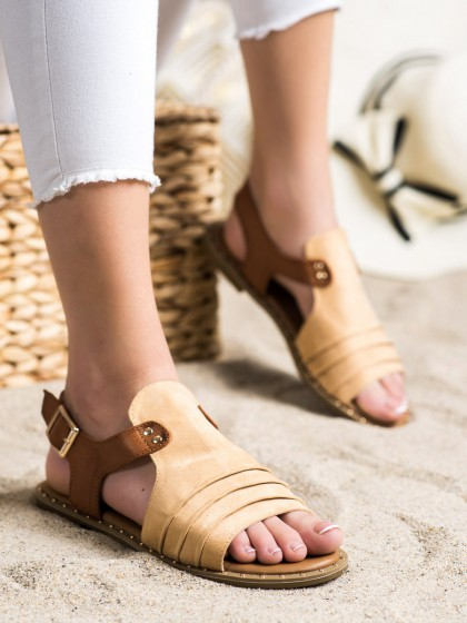 72077 - Vinceza sandali rjava/bez barva