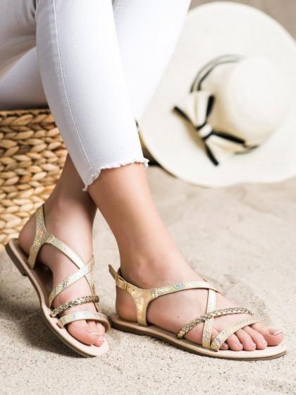 72099 - Vinceza sandali rumena/zlata barva
