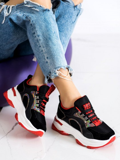 72175 - Fashion superge, nizki čevlji crna barva