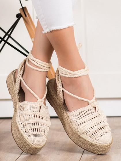 72252 - Small swan sandali rjava/bez barva