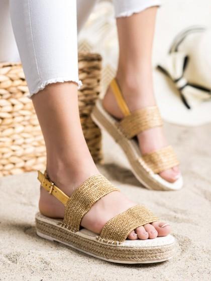 72290 - Shelovet sandali rumena/zlata barva