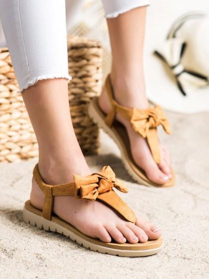 72293 - Shelovet sandali rjava/bez barva