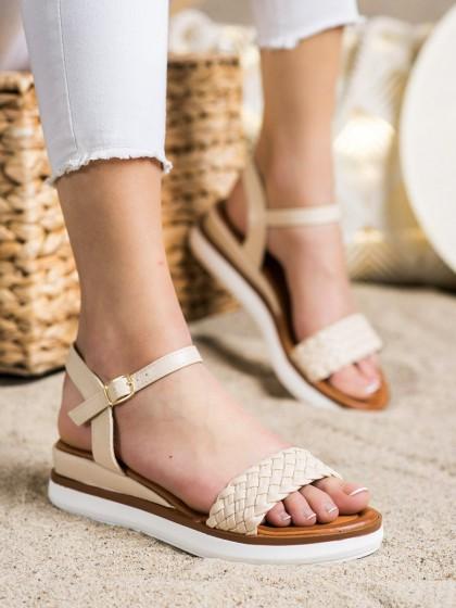 72313 - Shelovet sandali rjava/bez barva