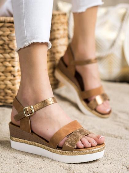 72315 - Shelovet sandali rjava/bez barva