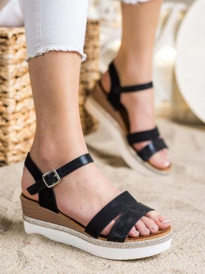 72317 - Shelovet sandali crna barva