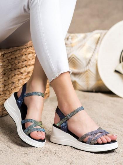 72320 - Small swan sandali modra barva