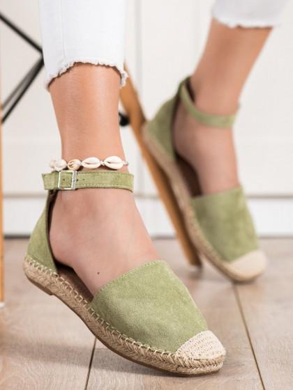 72349 - Small swan nizki elegantni čevlji zelena barva