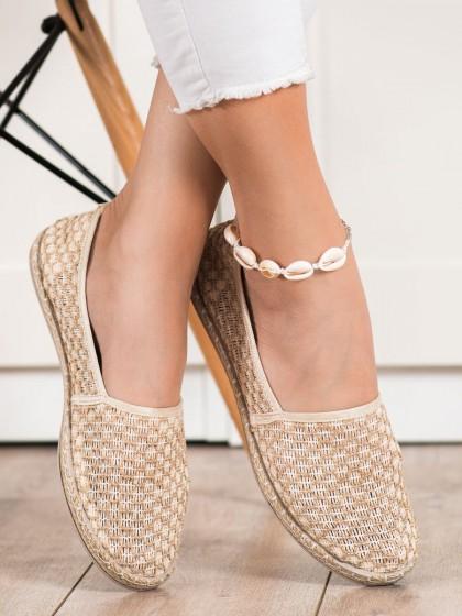72395 - Balada nizki elegantni čevlji rjava/bez barva