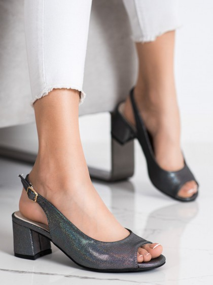 72405 - Goodin sandali siva/srebrna barva