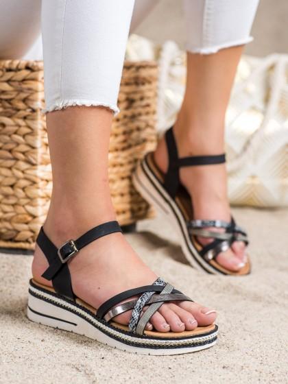 72417 - Groto gogo sandali crna barva