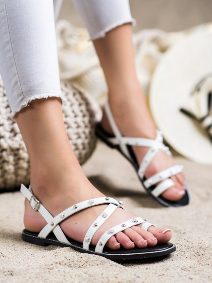 72447 - Goodin sandali bela barva
