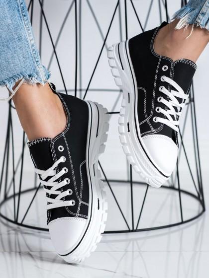 72452 - Shelovet superge, nizki čevlji crna barva