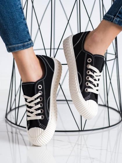 72453 - Shelovet superge, nizki čevlji crna barva