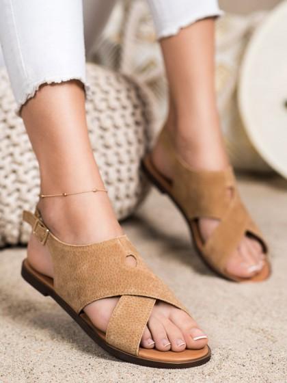 72488 - Sergio leone sandali rjava/bez barva