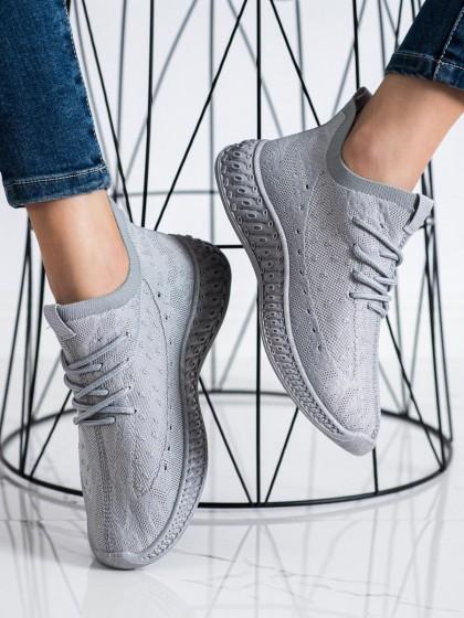 72498 - Shelovet superge, nizki čevlji siva/srebrna barva
