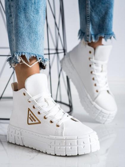 72504 - Goodin superge, nizki čevlji bela barva
