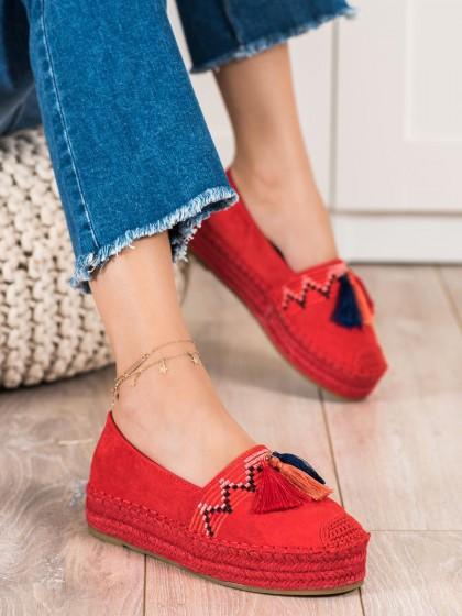72592 - Coura nizki elegantni čevlji rdeca barva
