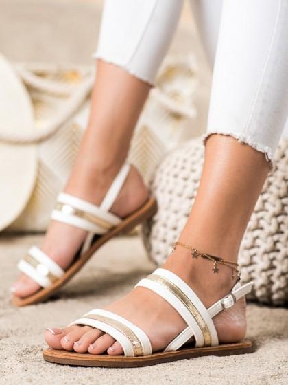 73170 - Cm paris sandali bela barva