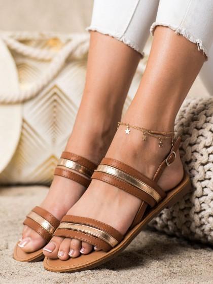 73171 - Cm paris sandali rjava/bez barva