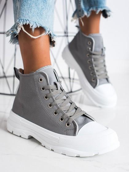 73378 - Goodin superge, nizki čevlji siva/srebrna barva