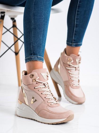 73443 - Vinceza superge, nizki čevlji roza barva