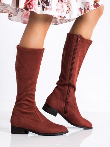 73577 - DaszyŃski visoki škornji rdeca barva