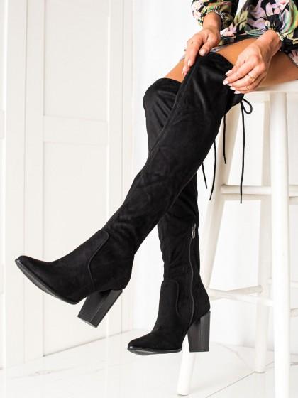 73834 - Vinceza visoki škornji crna barva