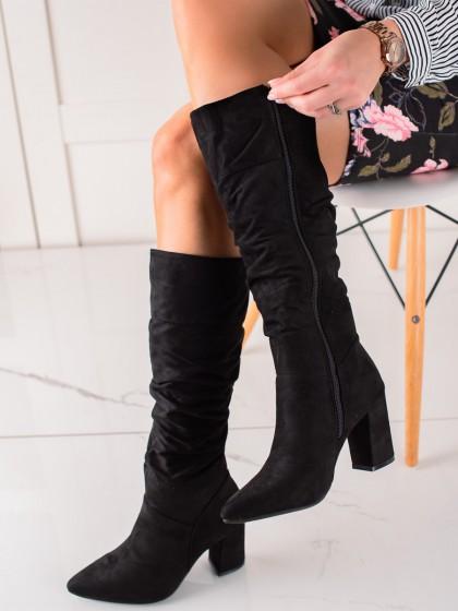 73857 - Vinceza visoki škornji crna barva