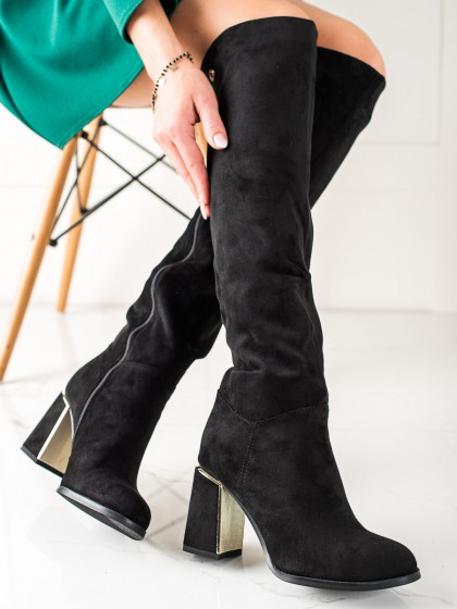 73881 - Goodin visoki škornji crna barva