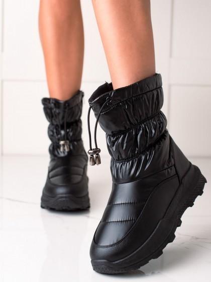 73900 - Trendi sneg škornji crna barva