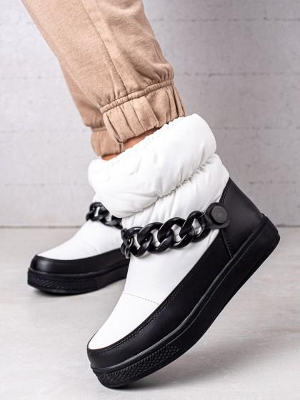 73927 - S. barski sneg škornji bela barva