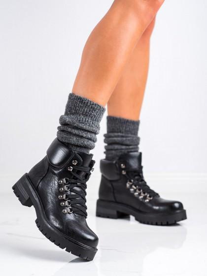 73936 - Ideal shoes gležnarji, piščančki crna barva