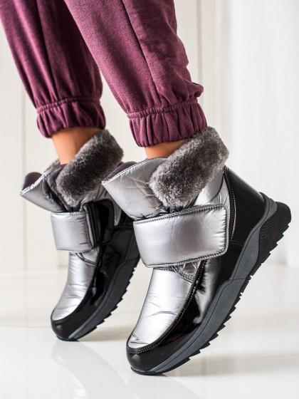 73937 - S. barski sneg škornji siva/srebrna barva