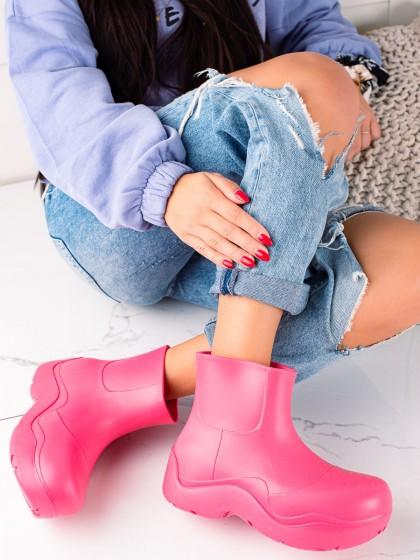 73950 - Trendi Škornji za dež roza barva