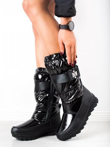 73970 - S. barski sneg škornji crna barva