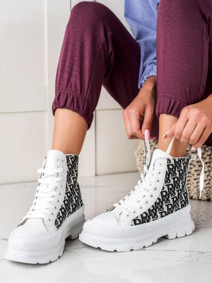 74064 - Trendi superge, nizki čevlji bela barva